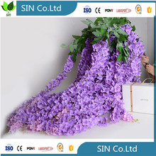 cheap china saiying high quality white long silk artificial wisteria giant silk flowers