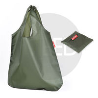 Army Green Simply Stylish Reusable Folding Shopping Bag