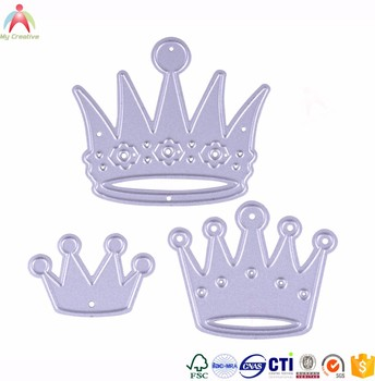 Elegent crown shape cutting die craft cutting die for scrapbooking