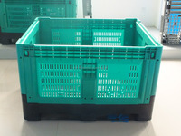 HDPE plastic Bulk Collapsible box foldable perforated crate