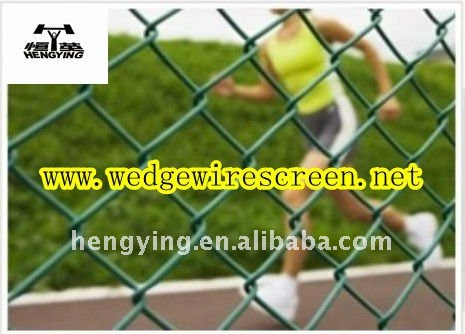 PVC Coated Chain Link Wire Mesh/Fence(Factory)