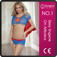 Factory stock sexy superman lingerie