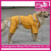 Cheap yellow big dog raincoat with legs