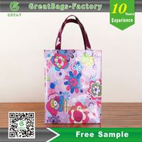 Shinny Custom Printing Oilcloth Bag