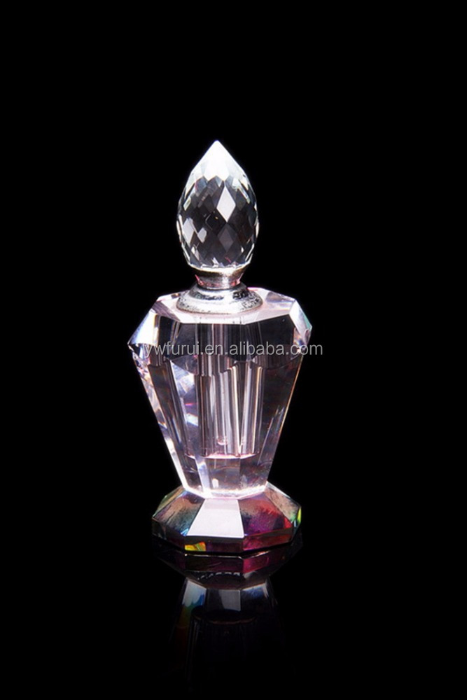 transparent crystal decorative perfume bottle ,crystal souvenir indian gift items