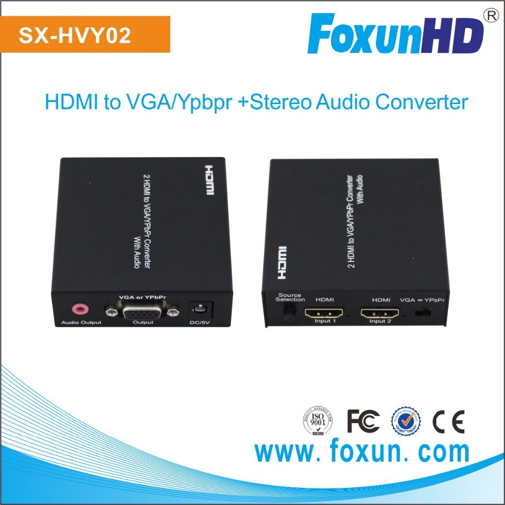 Hot sales SX-HVY02 HDMI to VGA/Ypbpr video Converter Support 1080p