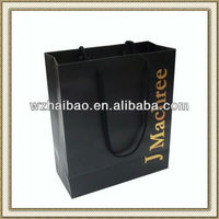 gold stamping logo recycled paper bag