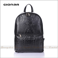 China Suppliers Men Crocodile Leather Cheap Fancy Laptop Backpack Fashion Adult School Backpack