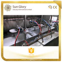 Automatic color coating line for nonstick cookware sets
