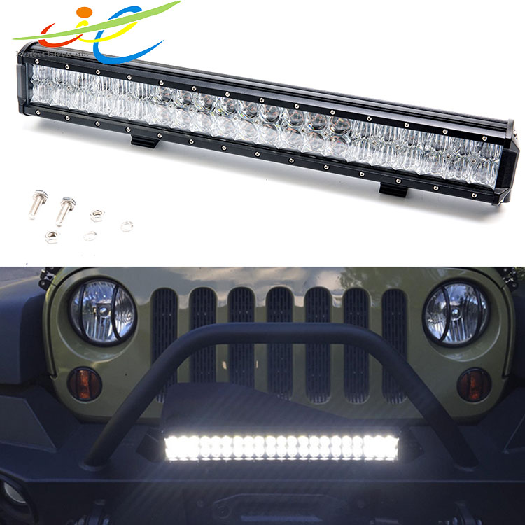 5D 126W Double row LED light bar 4WD car accessories driving lamp for Jeep Wrangler offroad spot flood combo worklight