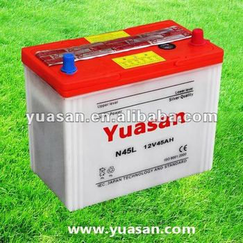 12V45AH N45L Lead Acid Dry Cell Car Battery JIS Standard NS60