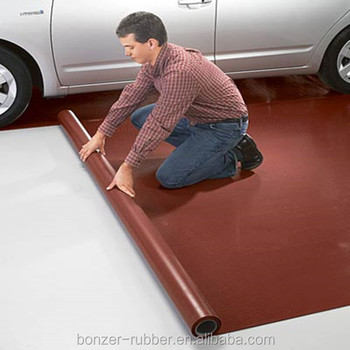 red color Garage matting Rubber Sheet Flooring  Manufacture in China