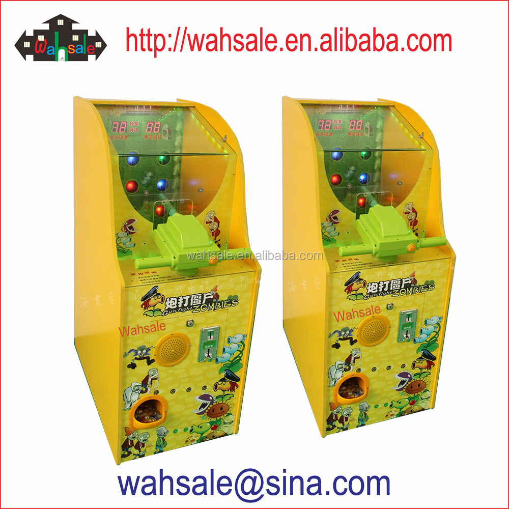 Coin operated classic laser gun shoot Zombies game machine