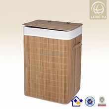Natural and Eco-friendly Bamboo Folding Laundry Basket, Collapsible Wooden Baskets