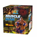 Cake and Display shell firework 1.2' 36Shots Muscle Man