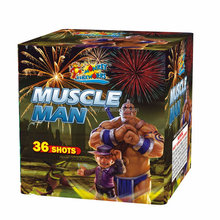 Cake en Display shell vuurwerk 1.2 '36 Shots Spier Man