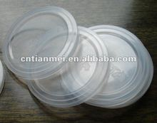 Transparent plastic lid for sealing