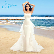 Organza Satin Mermaid Chinese Beach Gorgeous Cheap Wedding Dress
