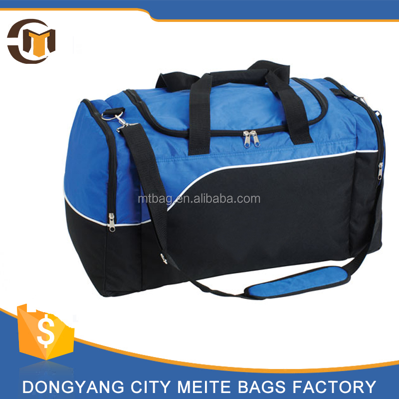 fashion orange black large compartment duffle bag gym sport bag