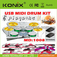 Enjoydeal New USB PC Roll Up Digital Electronic 9 Drum Pads Kit Set