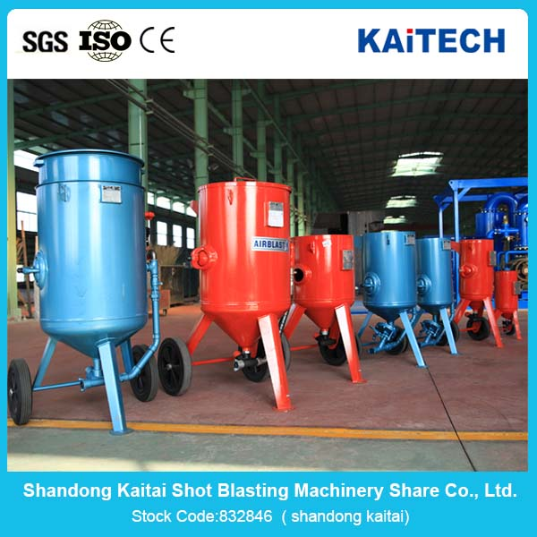 Electric industry equipment Sandblasting pot,Sand Blast Cleaning Tank for sale