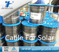 Cable For Solar Panel 100meter/Roll Red & Black pv wire for high voltage solar water purification