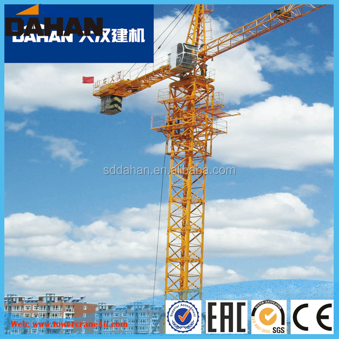 DAHAN QTZ63(5013) Topkit Tower Crane Boom Length 50M With Specifications And Good Harge