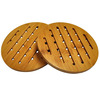 Bamboo placemat dish mat, tableware mat with air hole for kitchen,bamboo mats