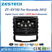 For Ssangyong korando 2012 best selling car accessories car radio with DVD/Radio/GPS/Bluetooth/3G/SD/USB/SWC