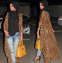 Middle east muslim women open abaya online hot sale sexy leopard jilbab muslim dress wholesale chiffon islamic clothing