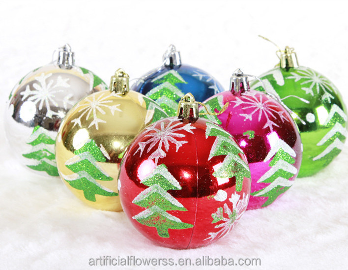 decorating Christmas clear plastic colored hollow balls