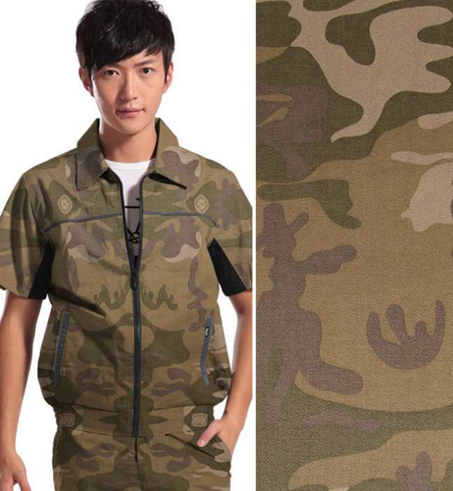 Wholesale poly cotton army camouflage fabric