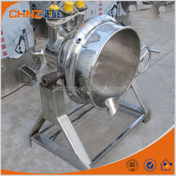 tilting type outdoor cooking kettle with mixer