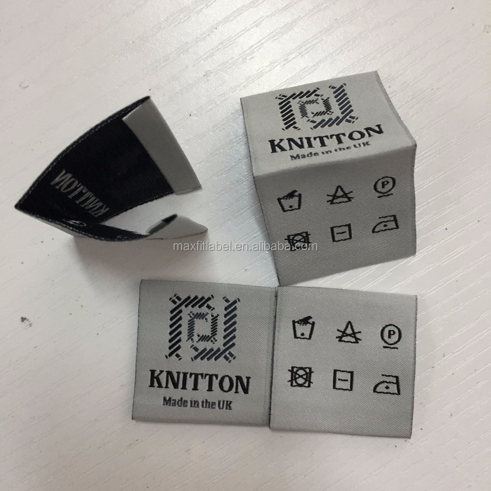 Custom high density damask Woven Labels with excellent quality