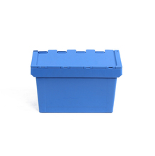 Heavy duty plastic storage moving turnover box crates