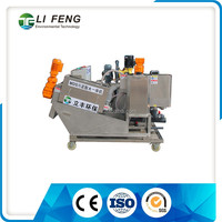 Fully automated stainless steel sludge dewatering screw press especially used for oil sludge dewatering