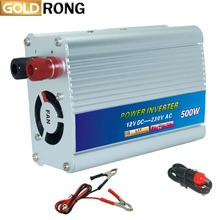Car Inverter 500W DC To AC 1000W Peak Power Inverters 87% High Efficiency With USB 5V Charger CE Certified