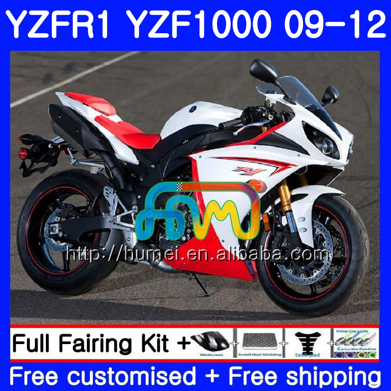 Body For YAMAHA YZF-<strong>R1</strong> YZF1000 R 1 white black YZF-1000 104HM30 YZF 1000 YZF <strong>R1</strong> <strong>09</strong> 10 11 12 YZFR1 2009 2010 2011 2012 Fairing