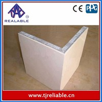 90 degree corner cover stone honeycomb Aluminium Honeycomb Stones/Marble Finish Composite Material