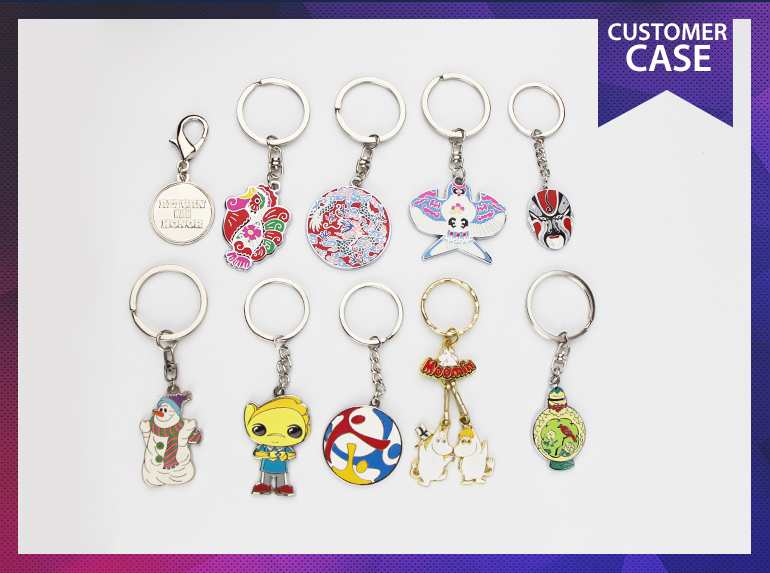 Most popular factory price custom keychain