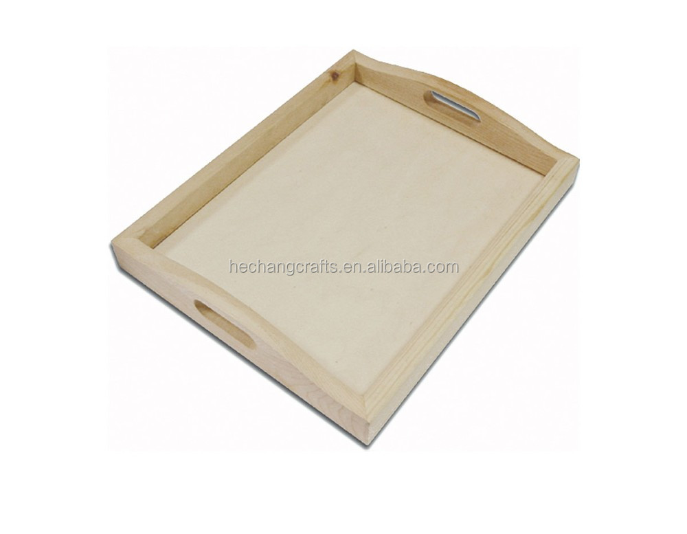 Cheap wooden tray unfinished wood trays