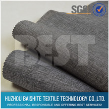 Super quality 100% polyester cationic linen home fabric textile