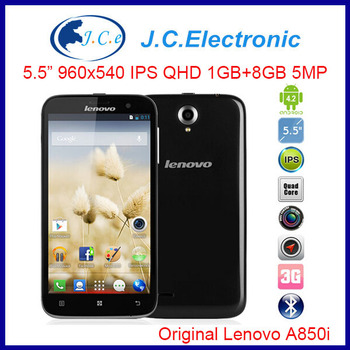 Original Lenovo A850I 5.5 inch 1.3GHz MTk6582M Quad Core 1GB+8GB Dual SIM 3G WCDMA Russian language Android 4.2 Smart Phones