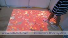 3D interactive projection system,interactive kids game flooring system solution