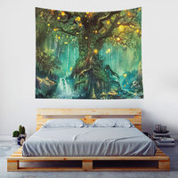 Monad Dropshipping Colorful Psychedelic Forest Tree Wall Hanging And Pictures Tapestry