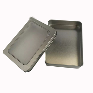 Round or Square Printing logo USB tin box with windows packaging