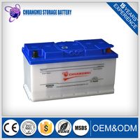 Discharge 12v100ah lead acid car battery Dry Charged DIN60038
