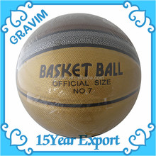 Cheap Promotional Standard No.7 Basketball with Logo Printing