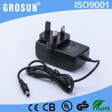 Alibaba wholesale 3pin UK plug dc 12v 2000ma power adapter with UL CUL CE GS(LVD) EMC