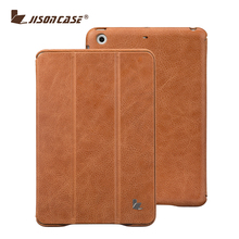 Best Luxury High Quality Genuine Leather Case for iPad Mini 2 with Sleep and Wake Up Function in Brown Color
